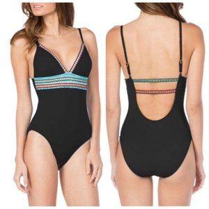La Blanca Women's Swimsuit Size 4 Black One Piece